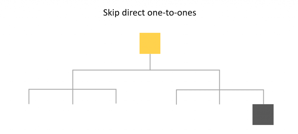 skip direct one-to-one